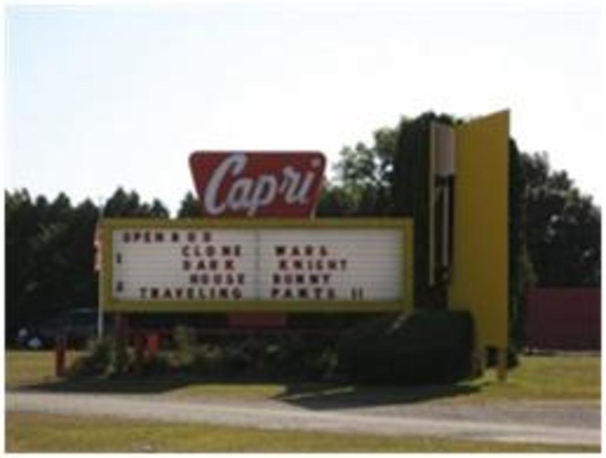 Capri Drive-In Theater; Coldwater MI.