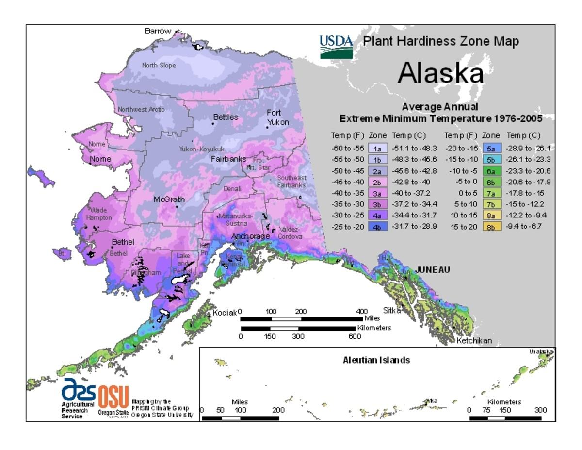 Hardiness Zones, Alaska