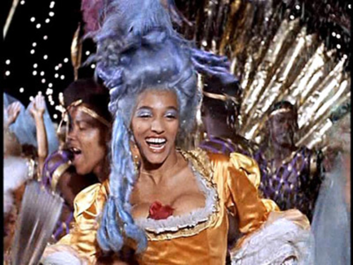 Mira, representing one of the Maenads, dancing at Carnival.