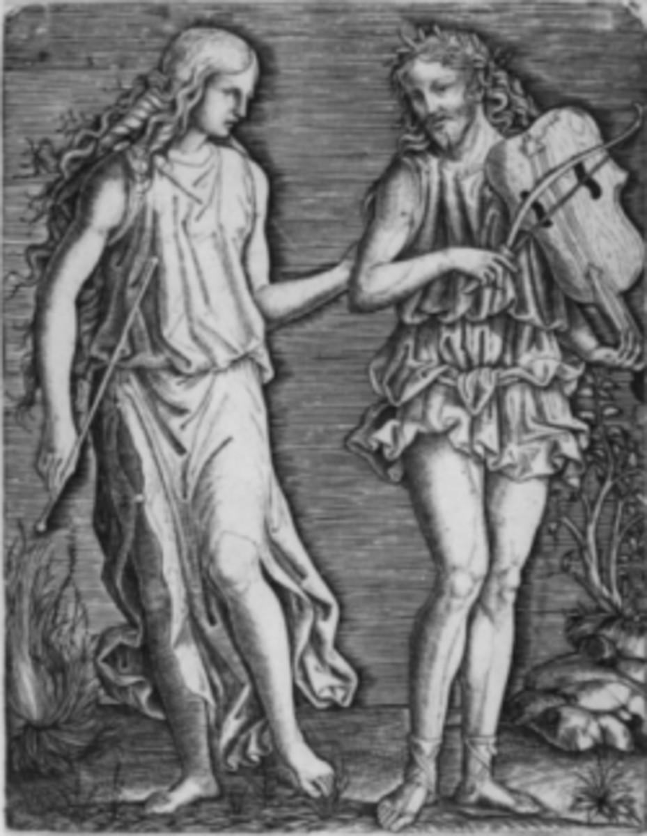 An Orpheus and Eurydice woodcut.