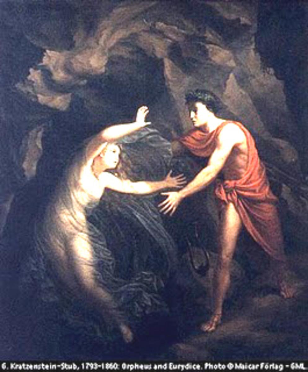 Eurydice slipping away.