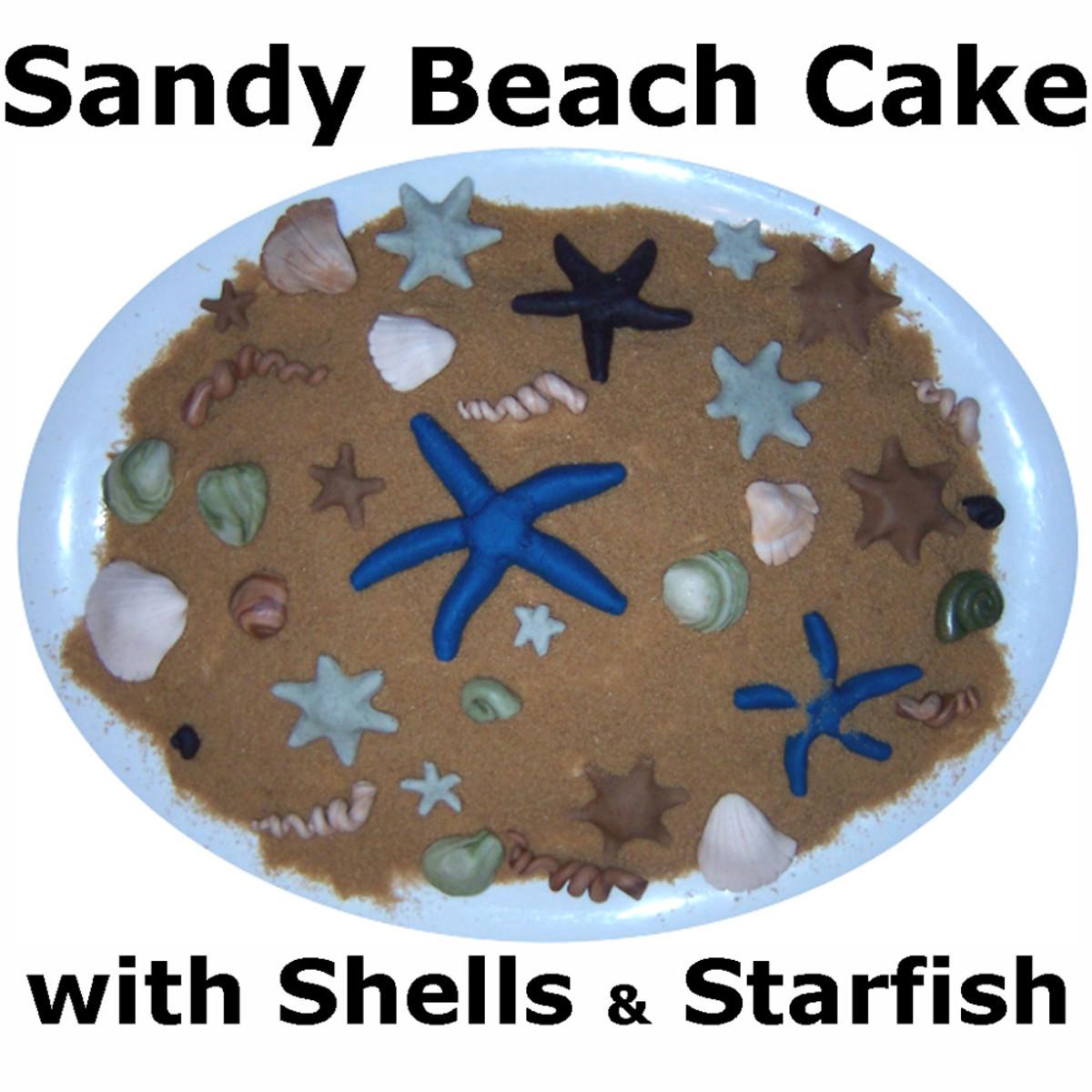 How to Make a Sandy Beach Cake