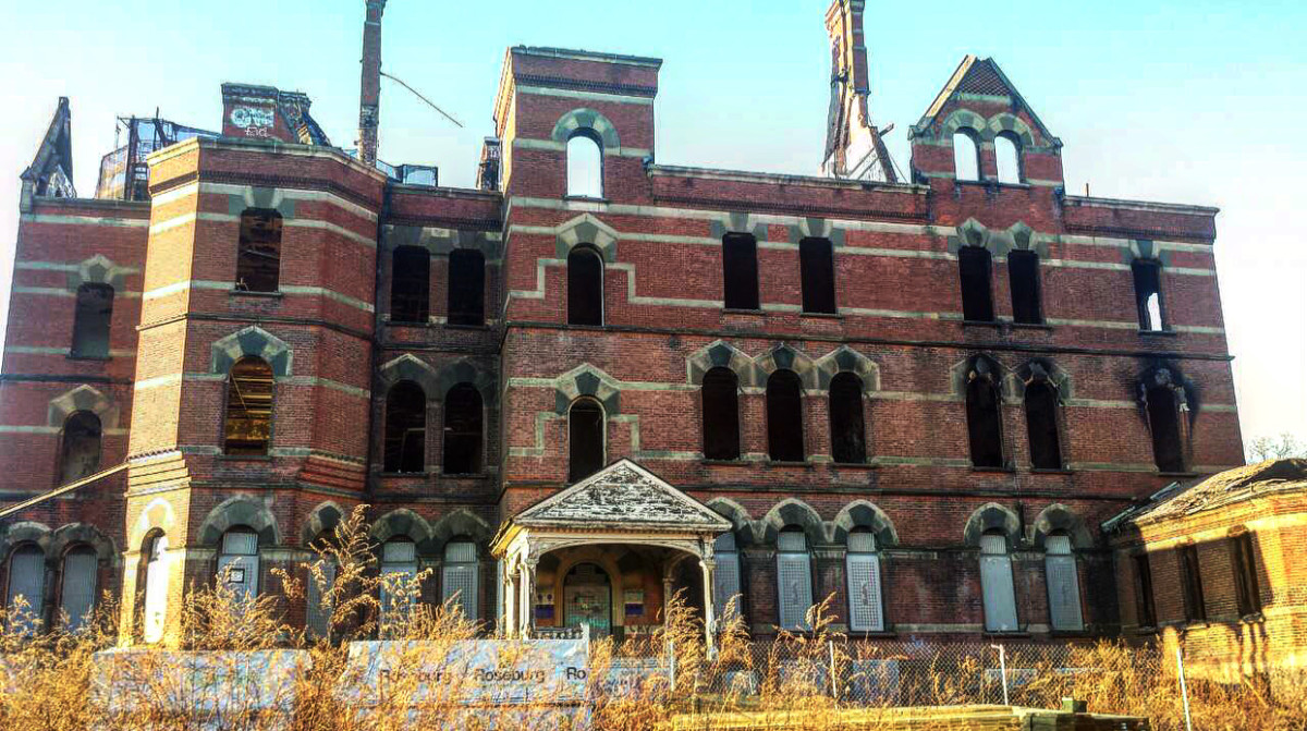 Kirkbride Building (front of hospital/administration building)