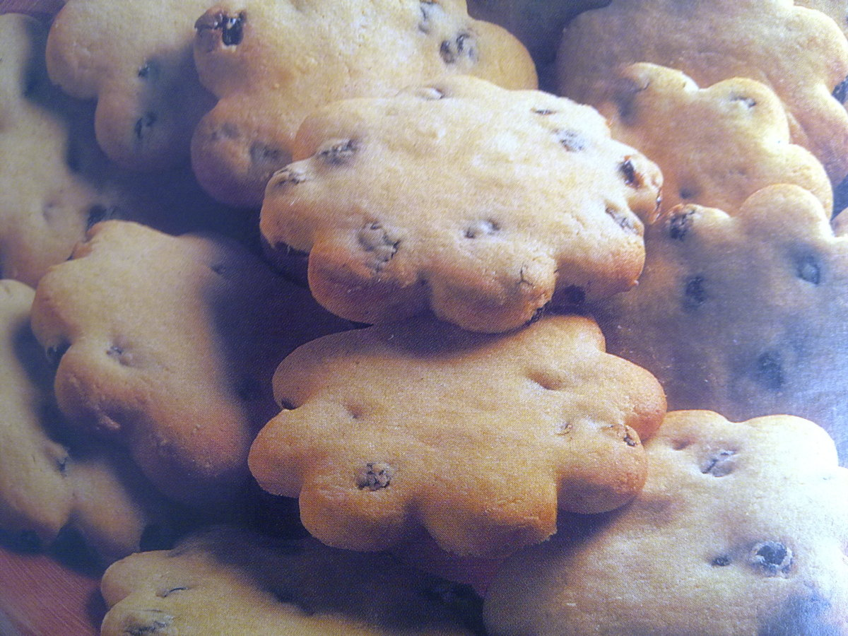 Low Cholesterol Currant & Lemon Cookies