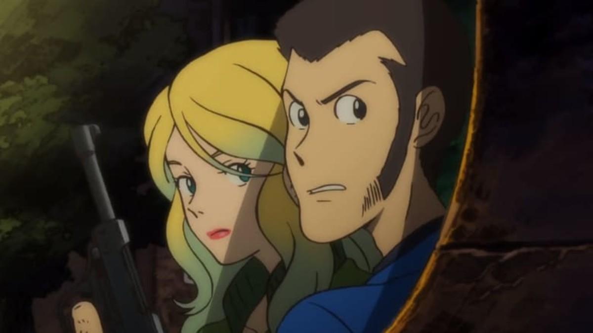 Lupin III and his wife Rebecca.