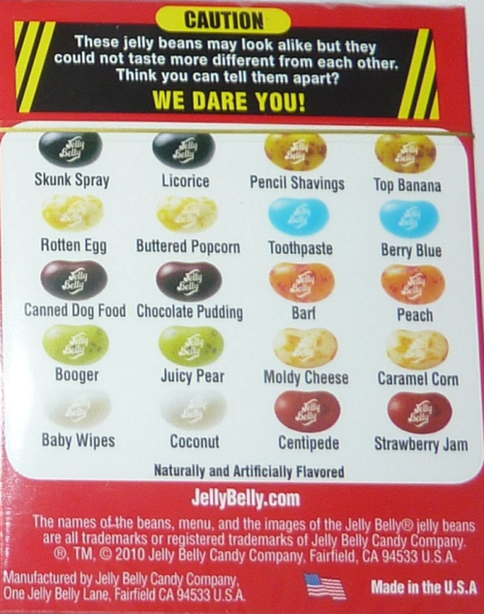 Jelly Belly Bean Boozled Flavors