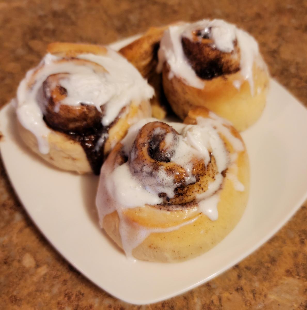 This is my husband's grandma's recipe for cinnamon buns