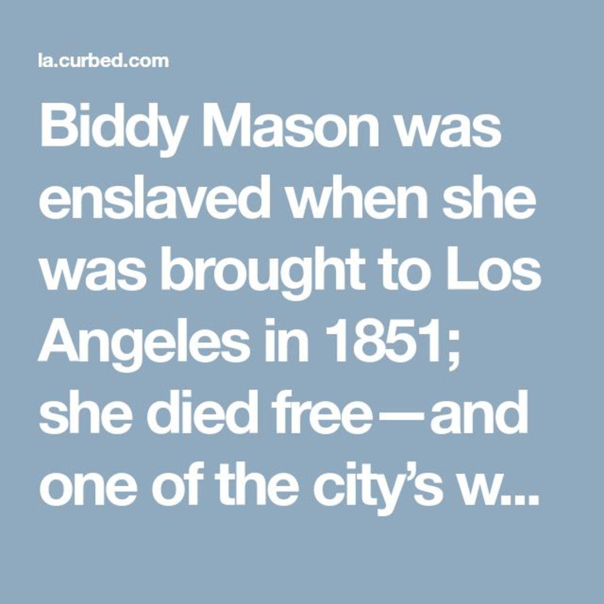 "Bridget ""Biddy"" Mason"