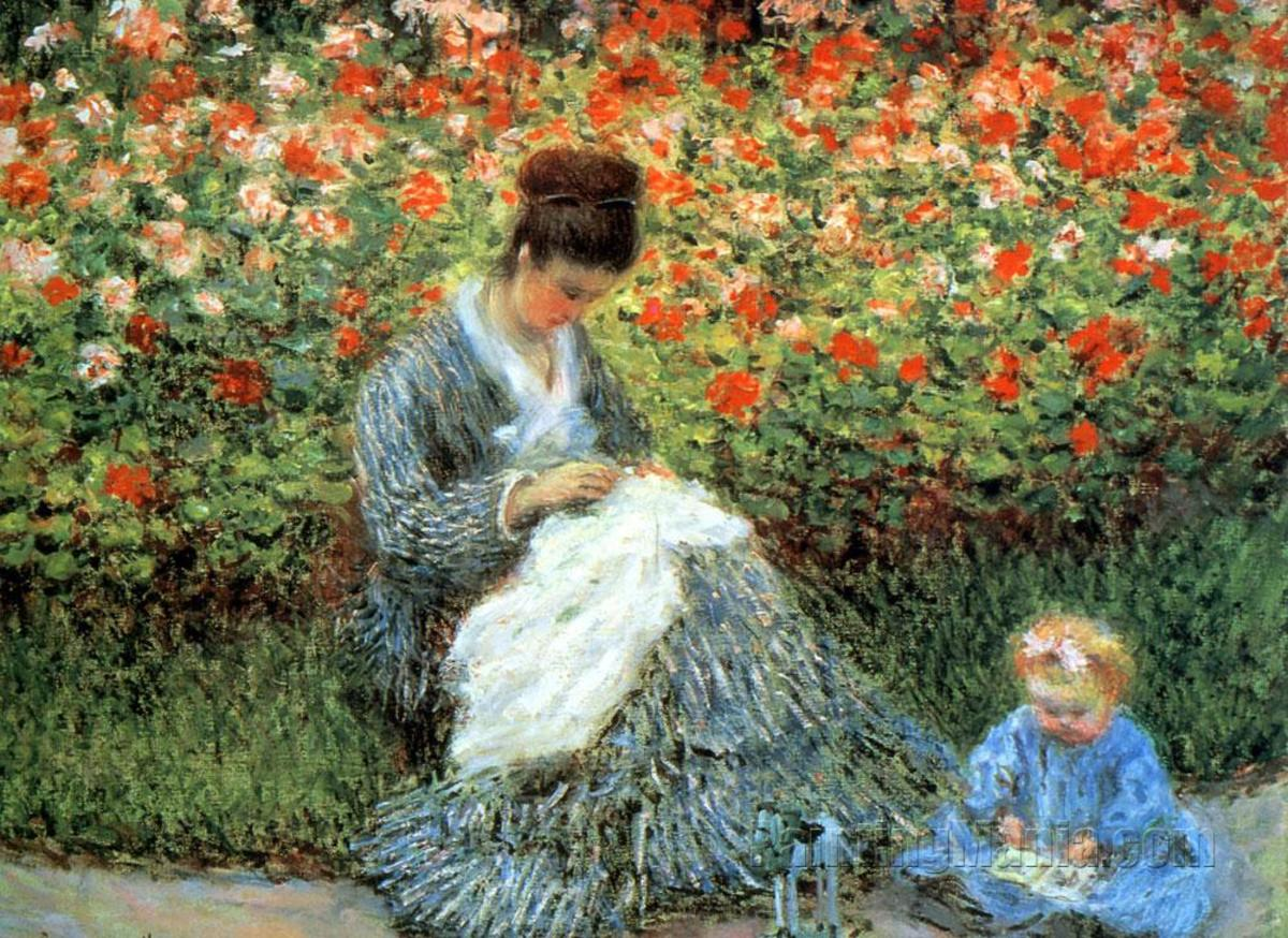 "Camille Monet, again ""Camille, with Child in Garden"""