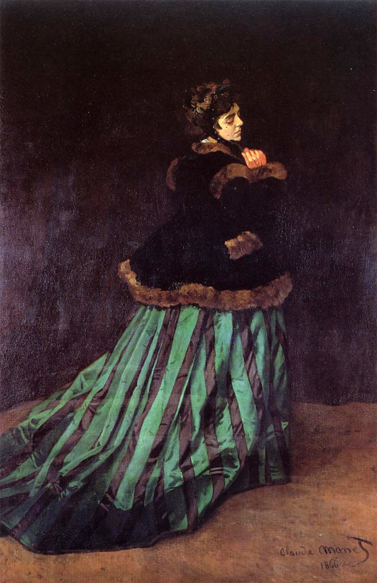 Woman in a Green Dress
