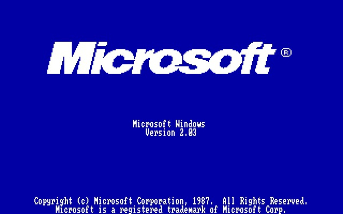 Windows 2.03 bootup screen
