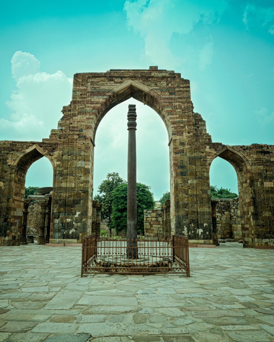 The Iron Pillar of Delhi as it is called has never rusted for the past 1600 years