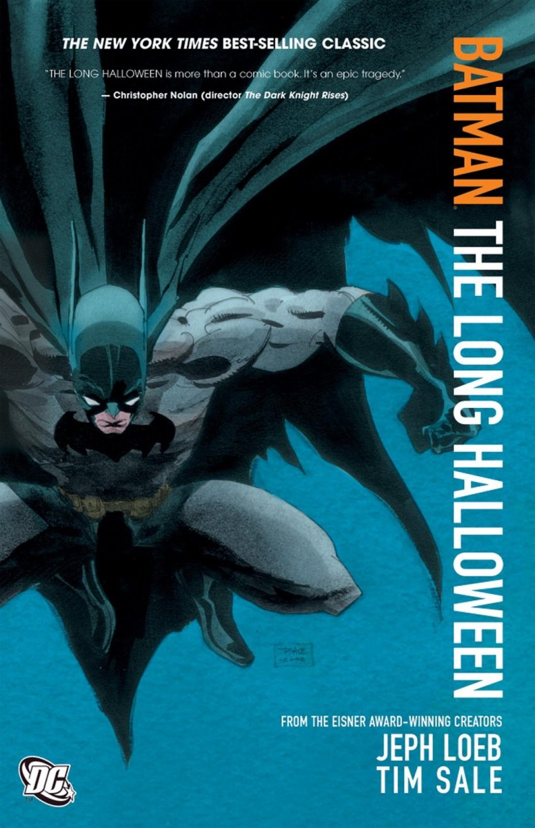 """""""Batman: The Long Halloween"""" paperback cover for the most recent edition."""