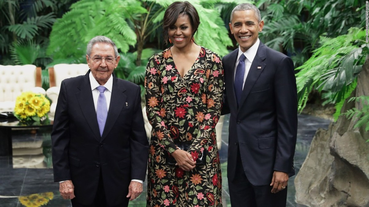 Obama with Raul Castro