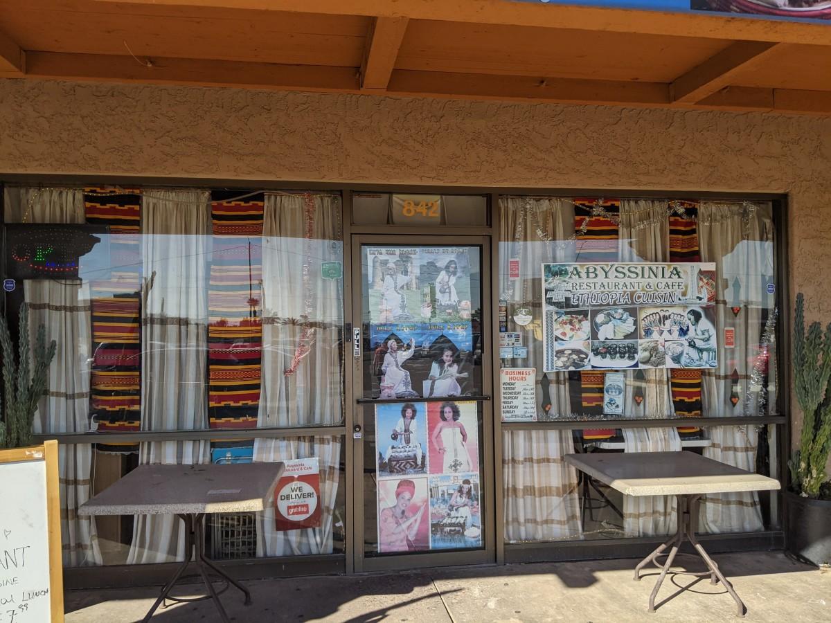 Entrance to Abyssinia Restaurant & Cafe in Phoenix, AZ