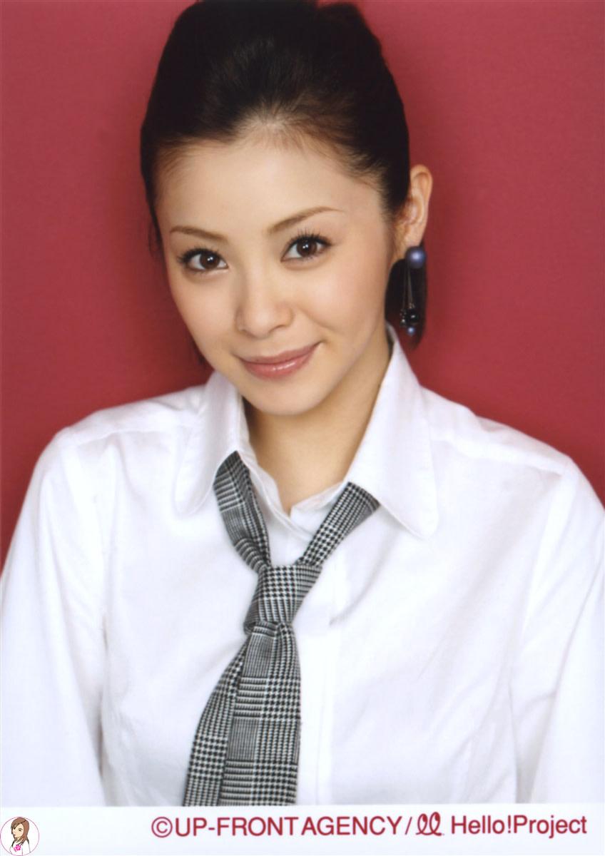 Aya Matsuura seen here during a 2007 concert tour. called Aki - Double Rainbow.