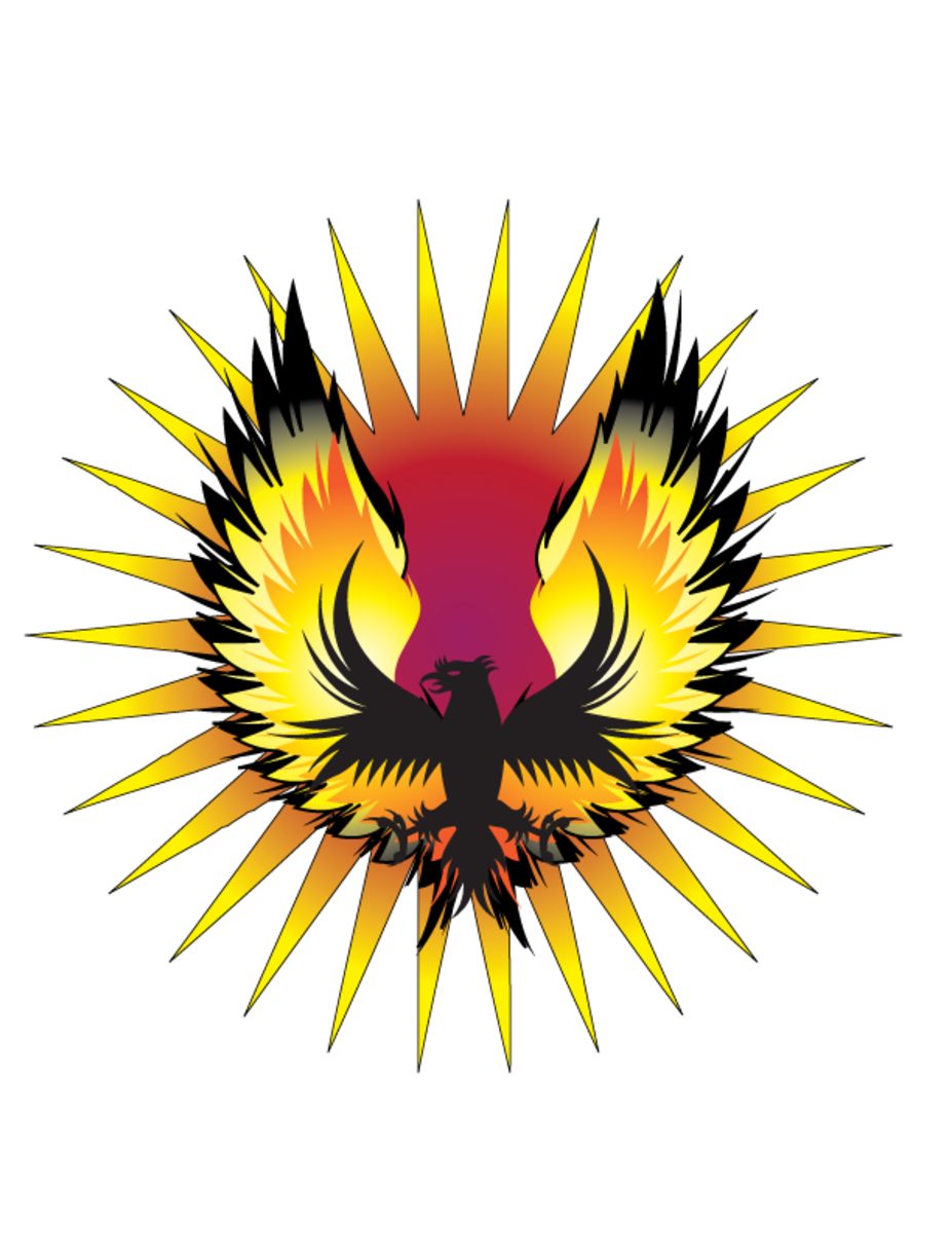 One of the symbols of the Illuminati is the phoenix.