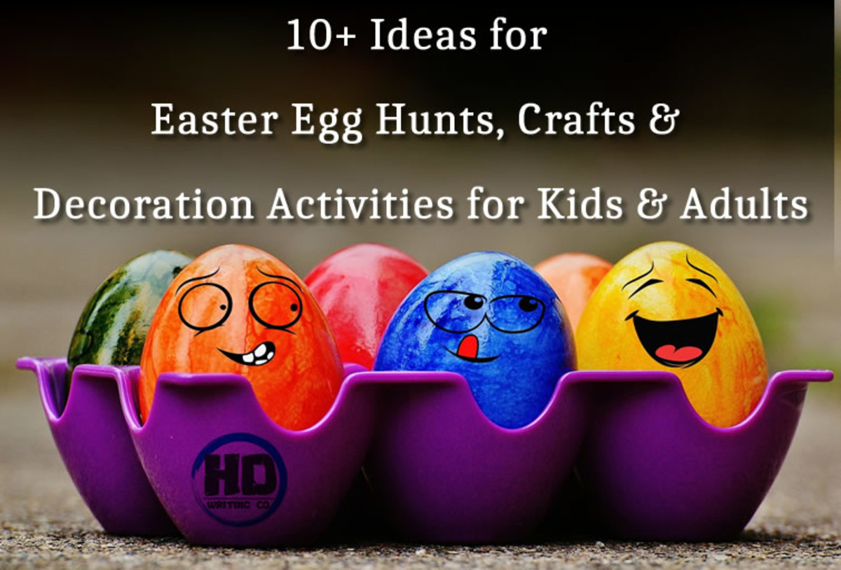 10+ Ideas for Easter Egg Hunts, Crafts & Decoration Activities for Kids & Adults