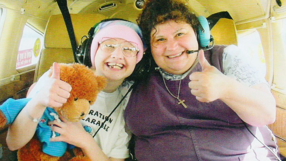 Gypsy Rose and her mother DeeDee at the height of her suffering from her mother's mental illness.