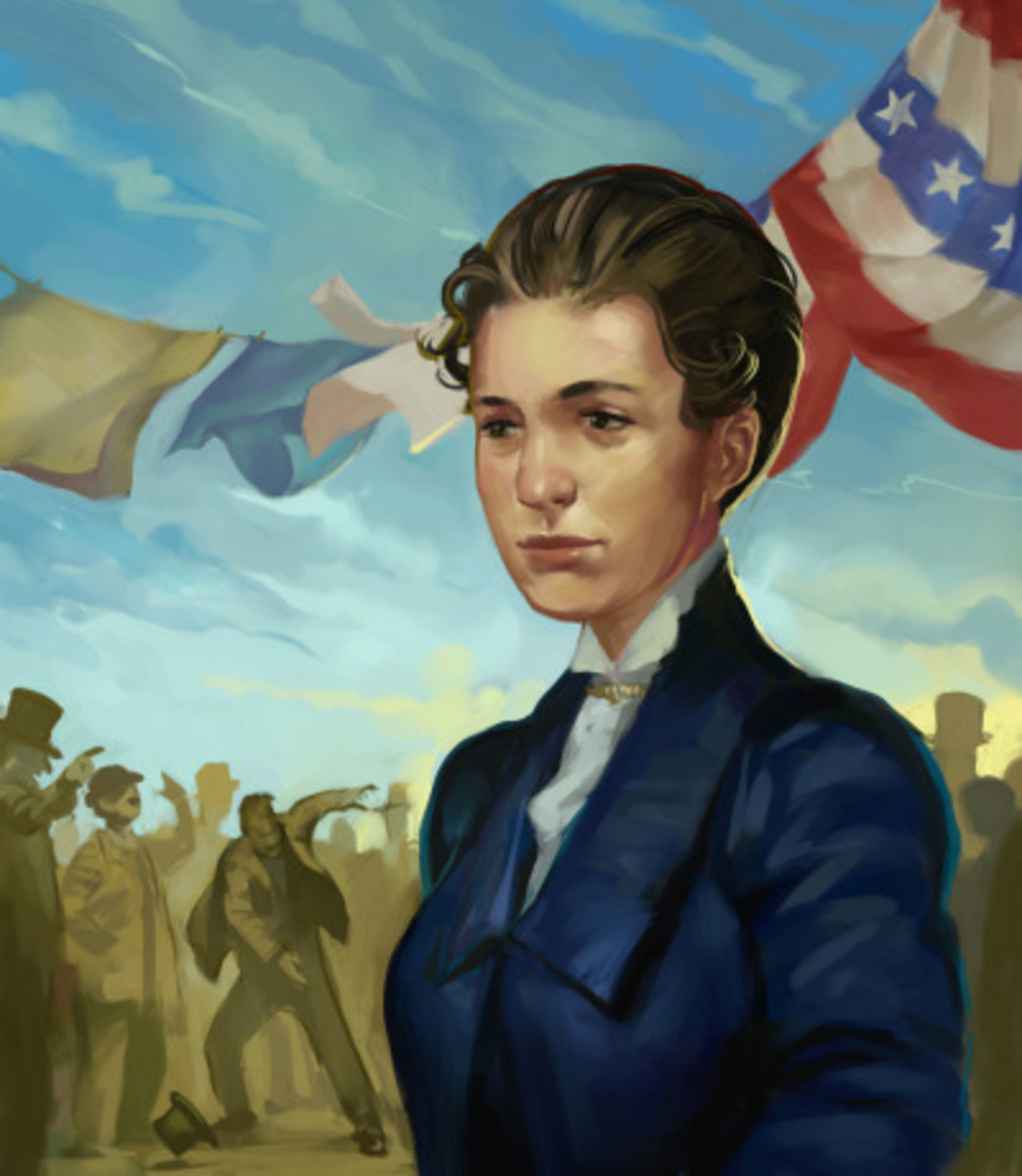 Animated depiction of Susanna Salter on election day