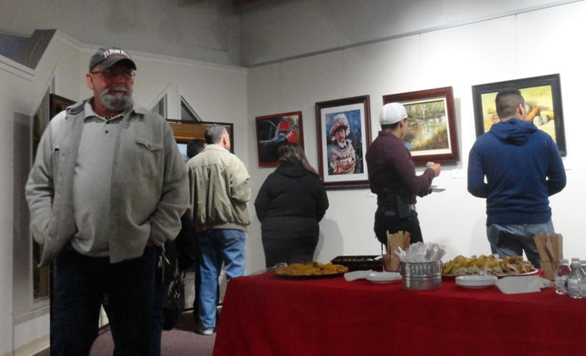 Art show reception night.