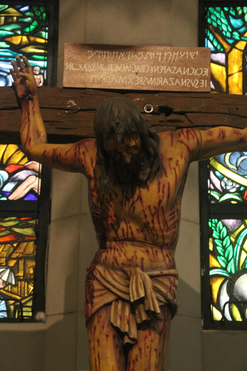 Statue of the Crucified Christ in the Manila Cathedral (Photo by the author)