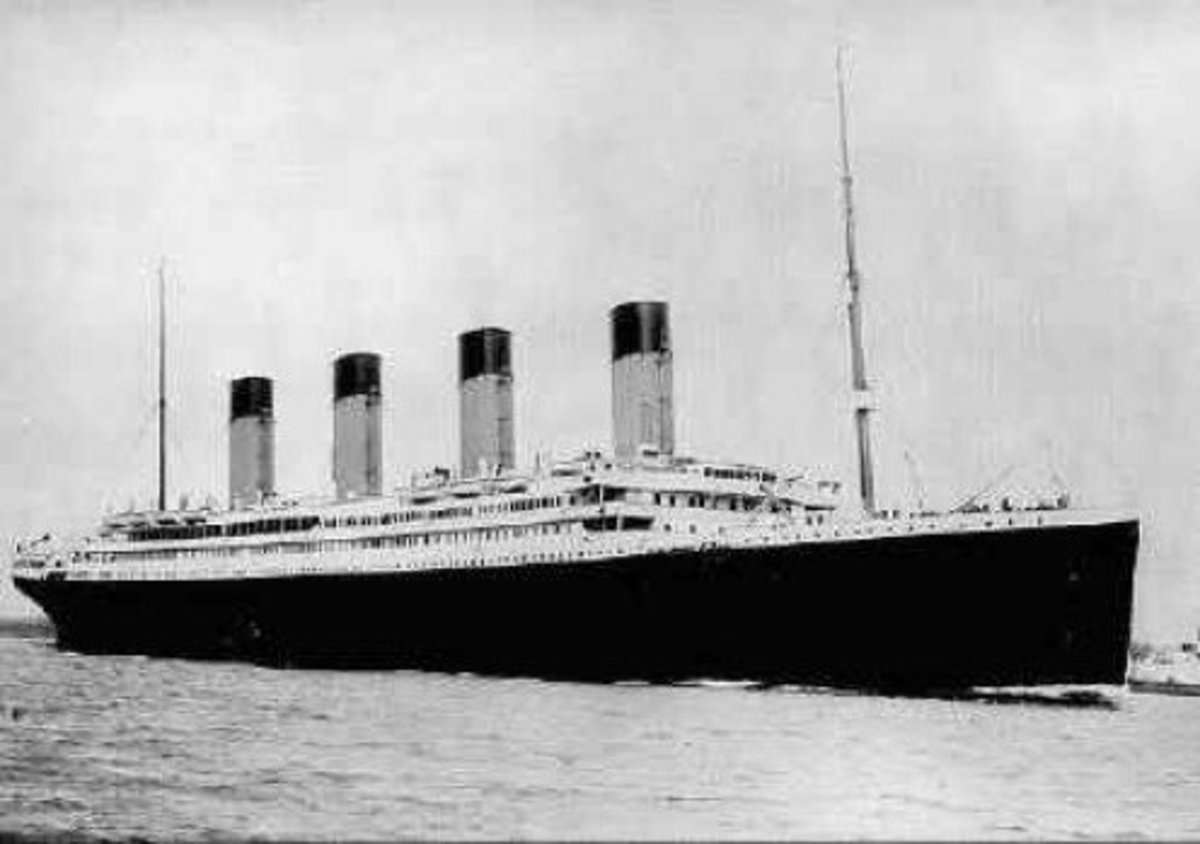 The Titanic leaving Queenstown with Mrs Rice and her 5 sons on board.