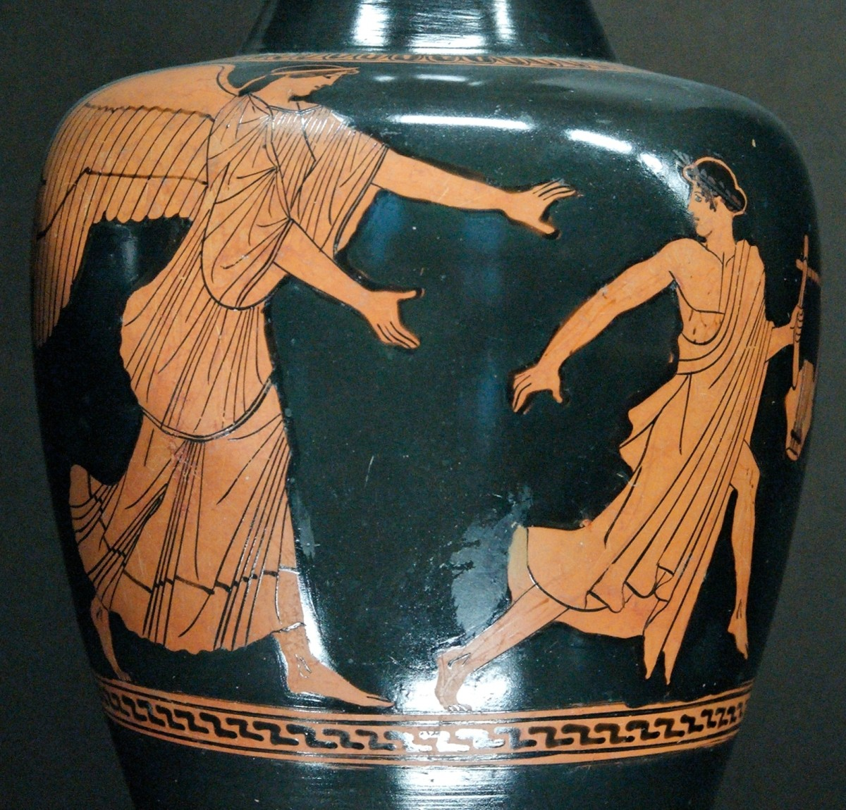 Eos pursues the reluctant Tithonus, who holds a lyre