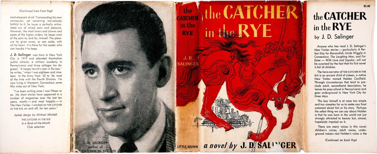 """Salinger's most famous novel, """"The Catcher in the Rye."""" With over 68,000,000 copies sold has become a modern American classic."""