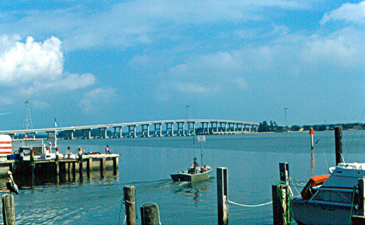 Fort Pierce bridge to Hutchinson Island.