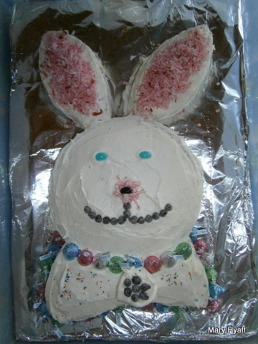 Help Your  Children Make And Decorate An  Easy Easter Bunny Cake