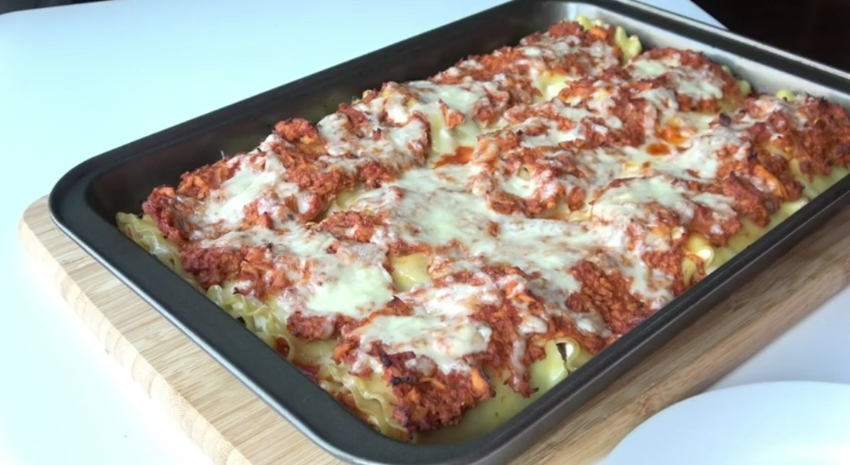 Lasagna roll is ready