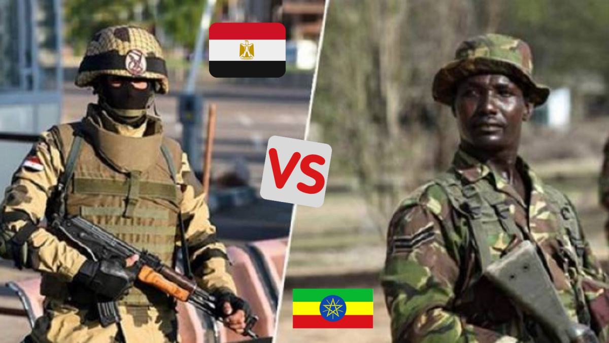 A comparison between the Egyptian army and the Ethiopian army