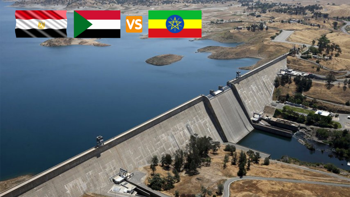 Aerial photograph of the Renaissance Dam in Ethiopia