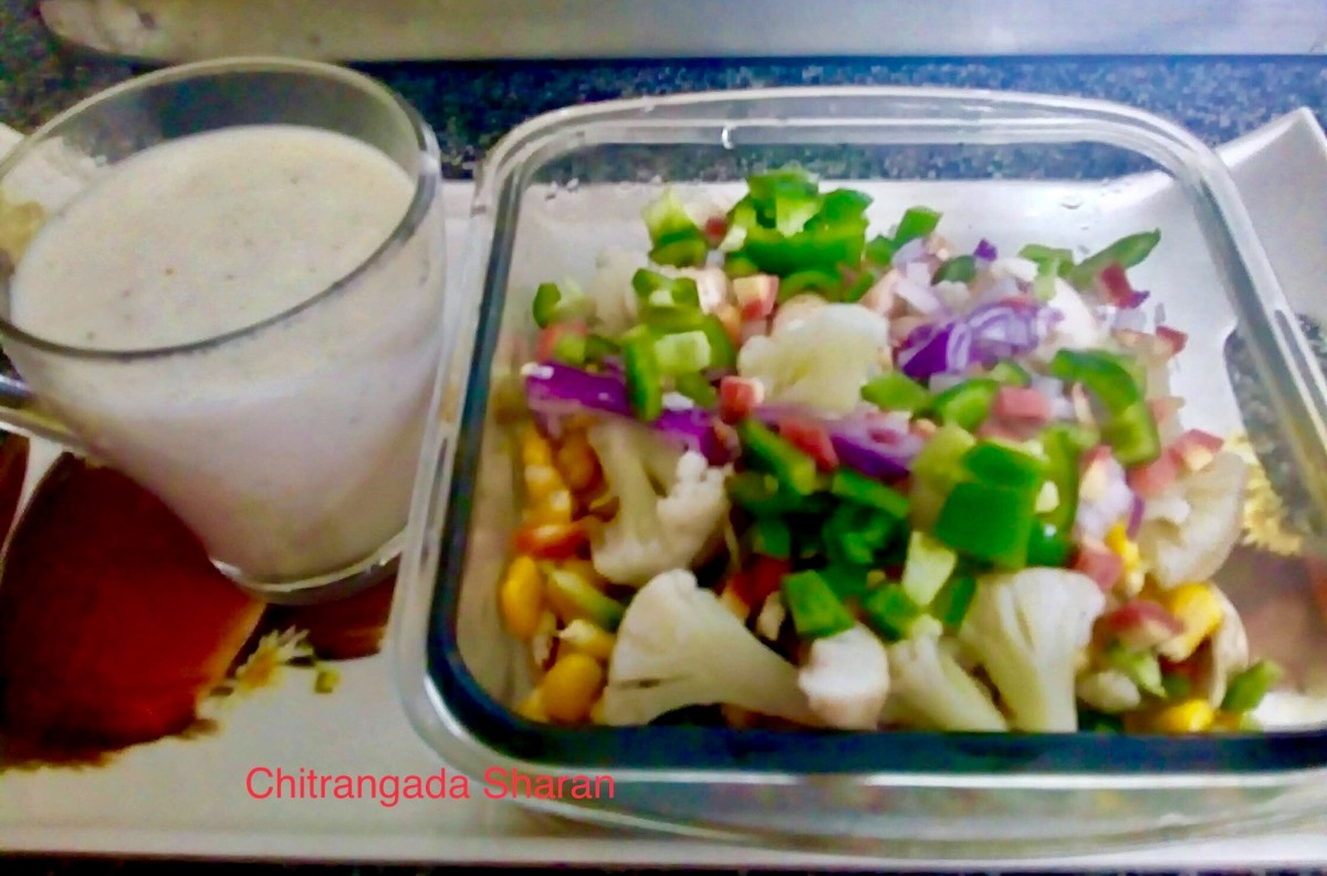 Leftover vegetables with white sauce