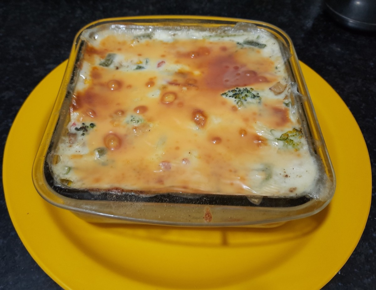 Baked Vegetable, made with leftover vegetables