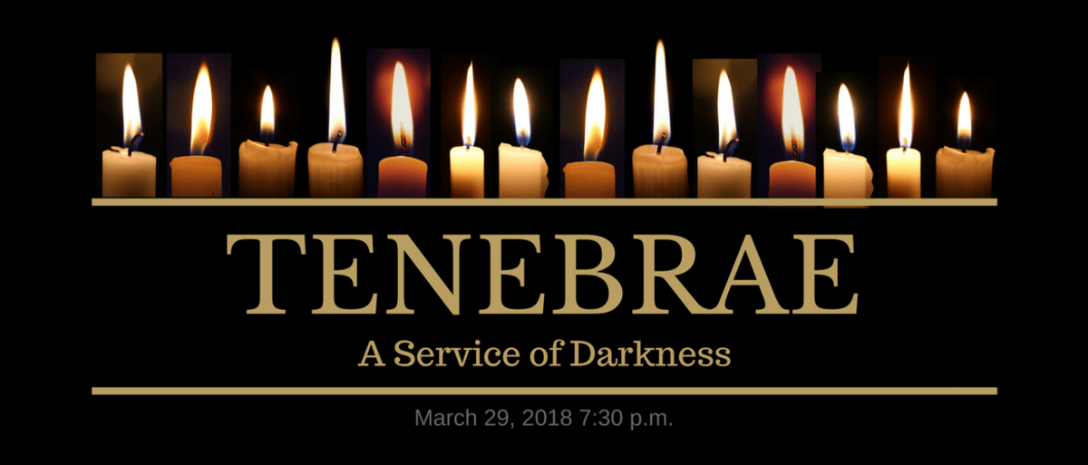 Liturgical - Tenebrae The candles are extinguished one by one during the course of the service.