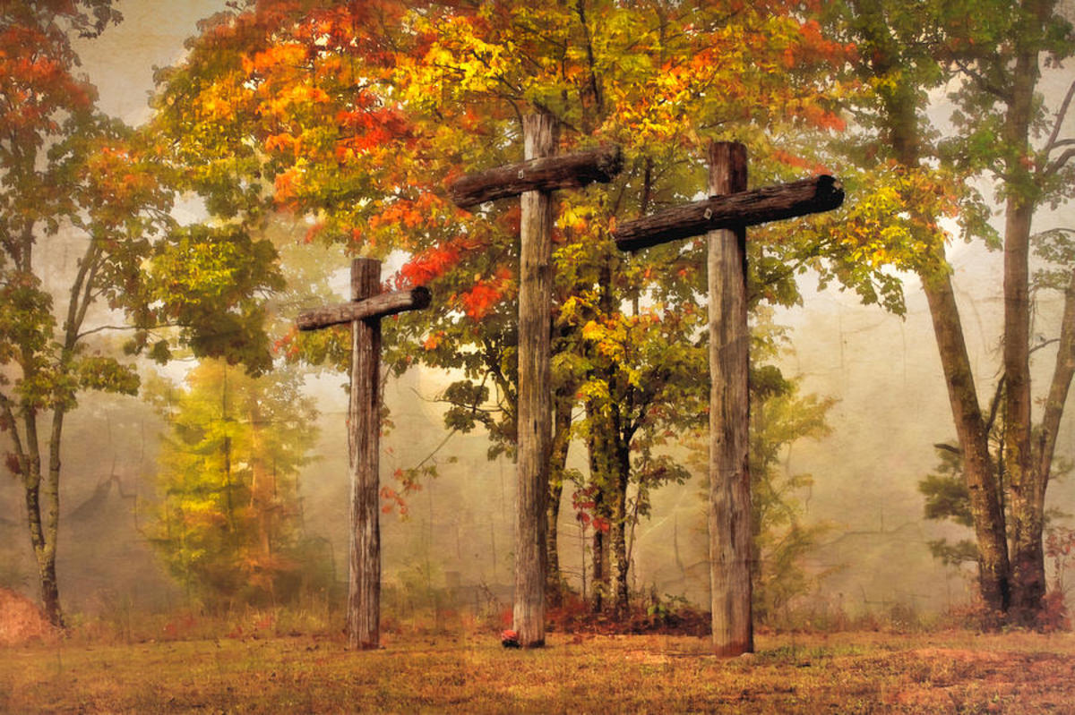 Three Crosses Photograph by Debra and Dave Vanderlaan