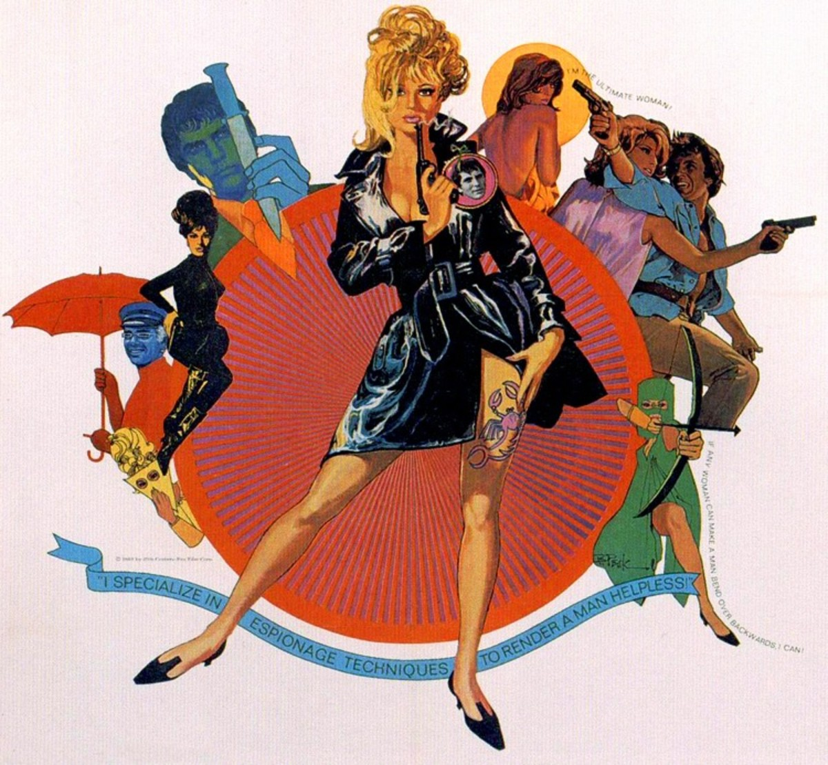Modesty Blaise (1966) art by Bob Peak