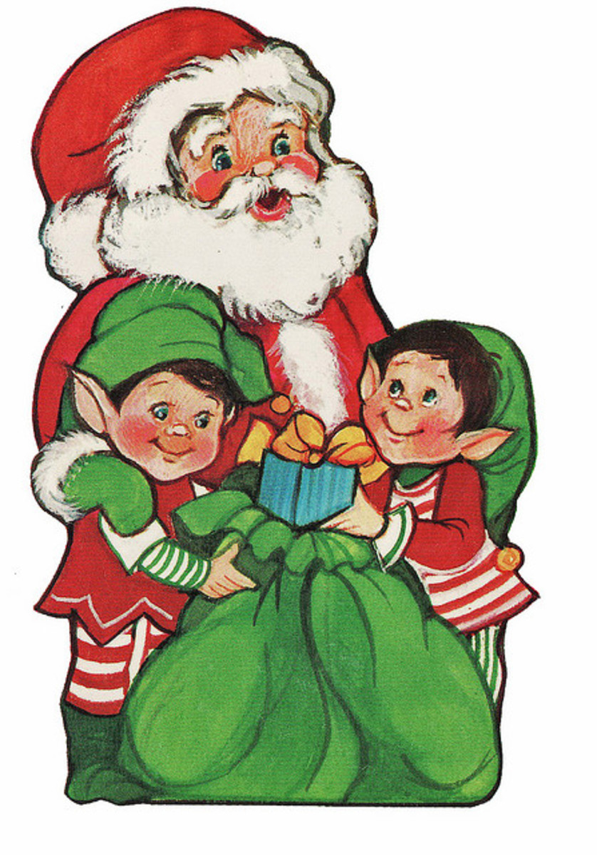 Santa & Elves By Calsidyrose