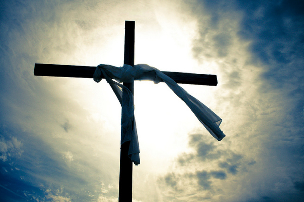 Jesus died on the cross and rose again three days later. This is why Christians celebrate Easter.