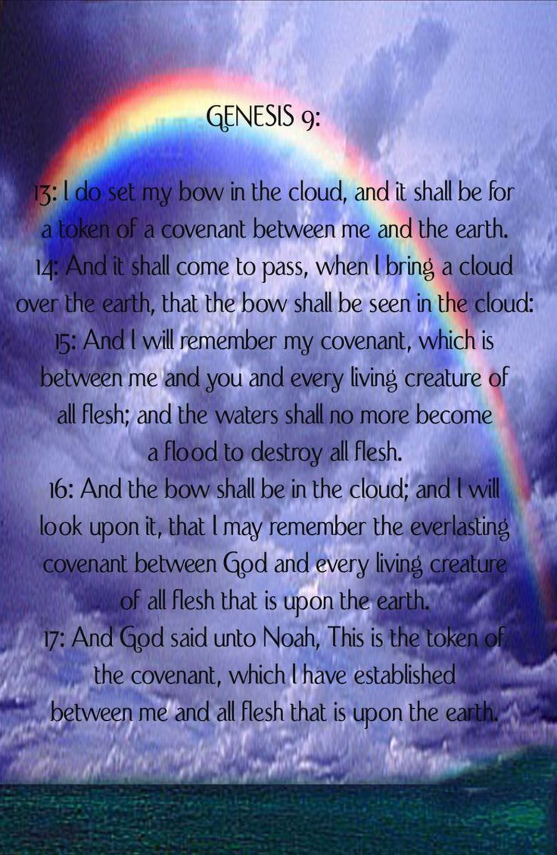 Genesis 9 - Bible verse about the reason for the rainbow