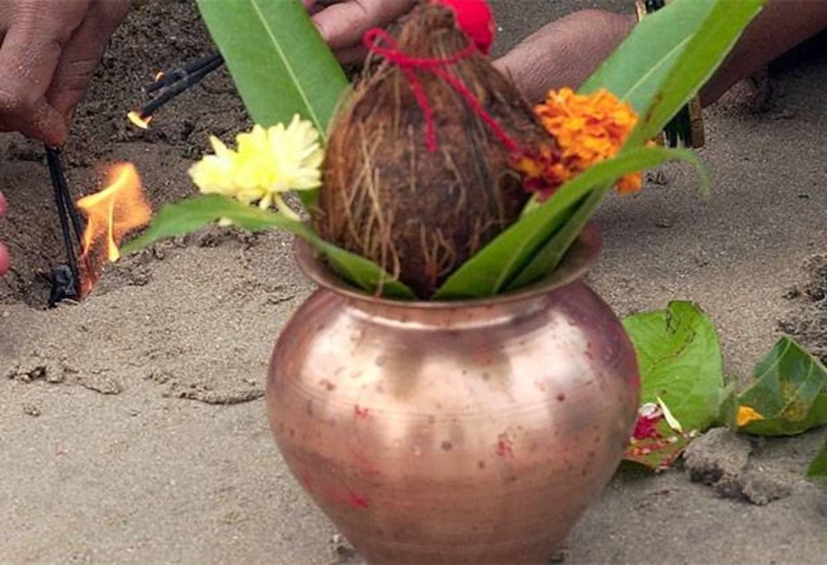 Mango leaves on a Kalash