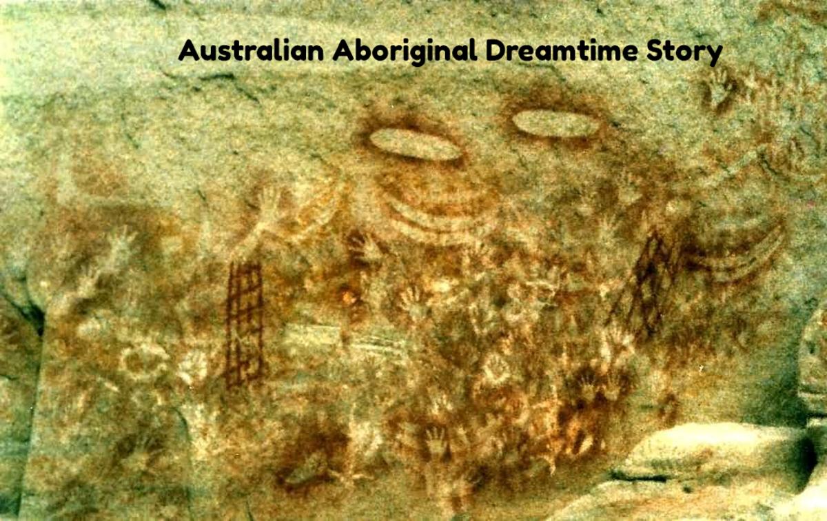 Dreamtime story, stencil art