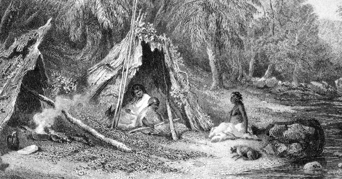 Indigenous lifestyle in the cooler parts of Australia at the time of European settlement.