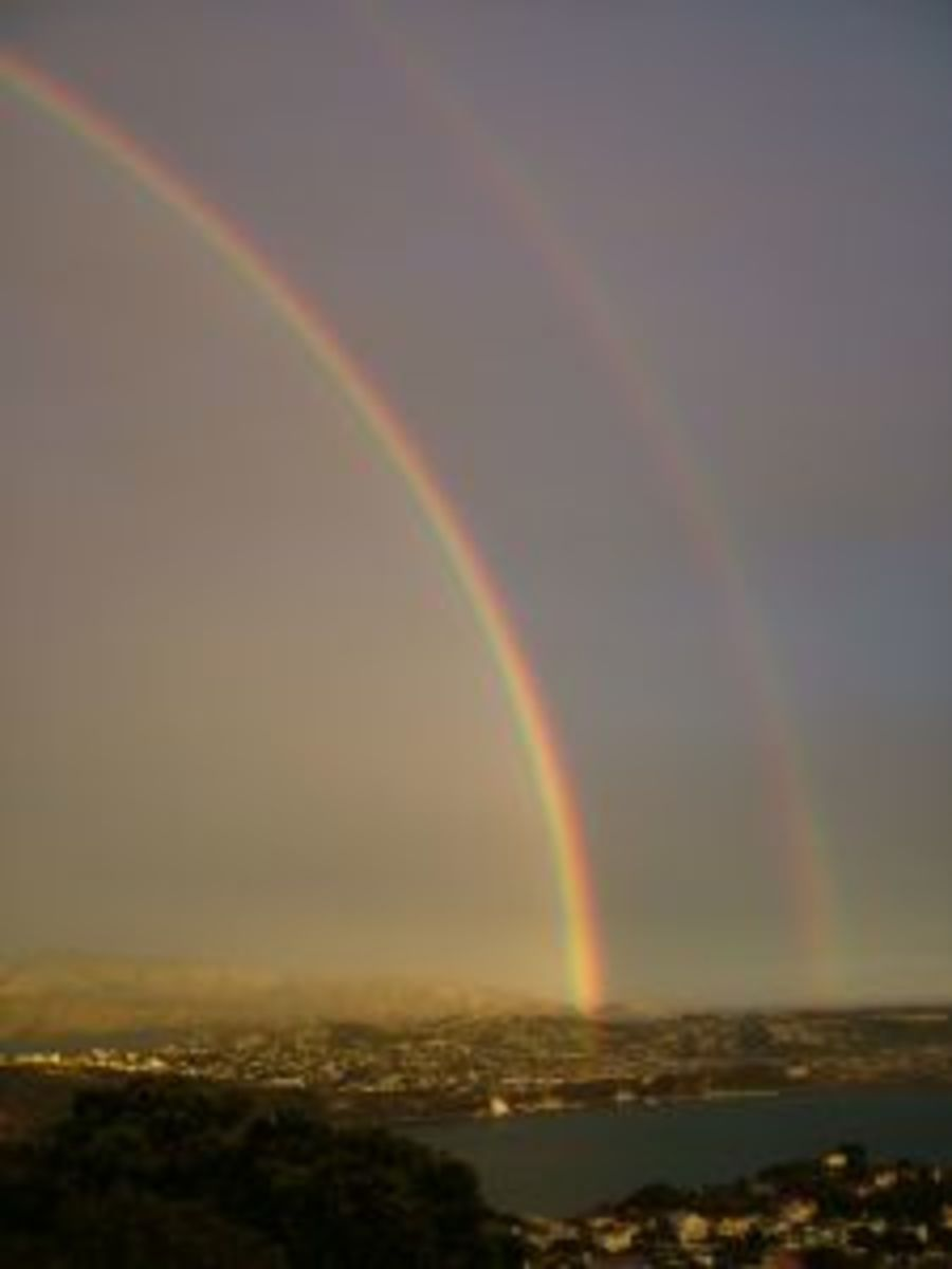 Gorgeous double rainbow