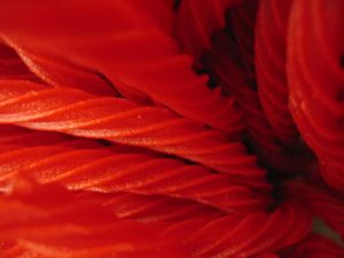 Red rope licorice