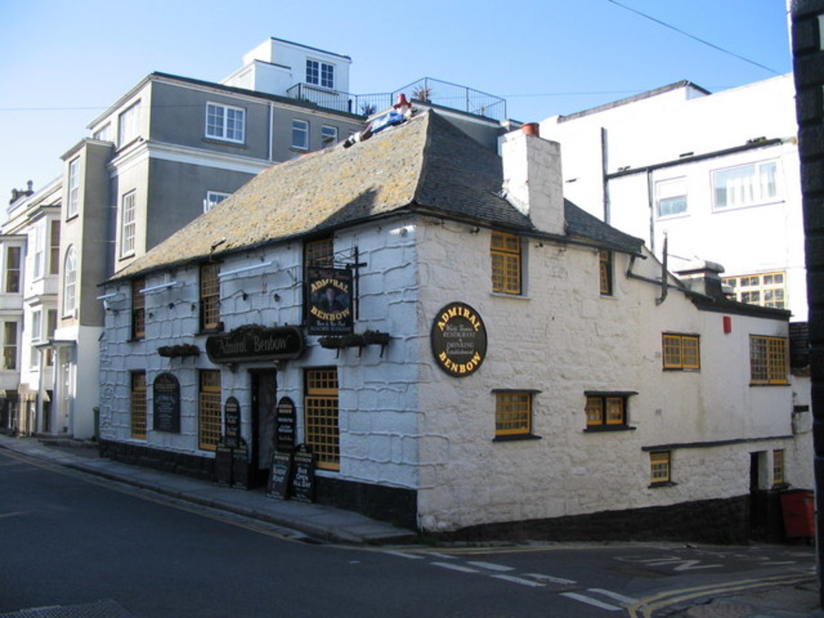 Places to go in Cornwall.  Admiral Benbow pub with smugglers' tunnels.