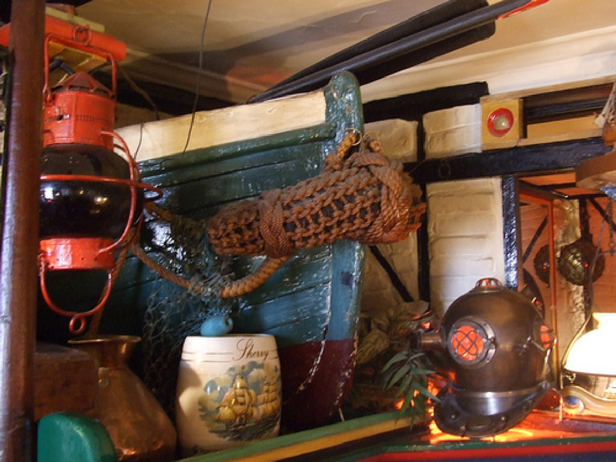 Places to go in Cornwall.  Inside The Admiral Benbow, Penzance
