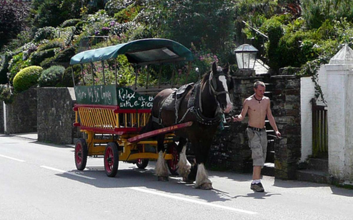 Polperro Horse Bus